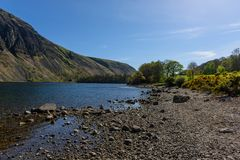 Wasdale and Wastwater. View along Wastwater in Wasdale looking towards the foot of the lake Royalty Free Stock Photos
