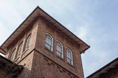 Waseda hoshien seminariumhustornet arkivbild