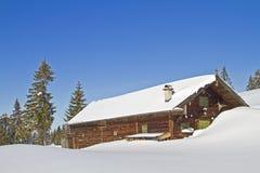 Wasensteiner hut in winter Royalty Free Stock Photo