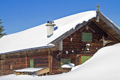 Wasensteiner hut in winter Stock Images