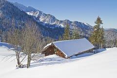 Wasensteiner hut in winter Stock Image