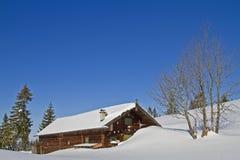 Wasensteiner hut in winter Stock Photos