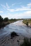 Wash. View of a wash in painted desert Stock Photos