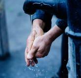 Wash. Closeup of washing hands, vienna Royalty Free Stock Images