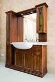 Wash-basin for bedroom. Wooden wash-basin set for bedroom Stock Photo