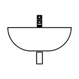 Wash basin black color icon . Royalty Free Stock Photography
