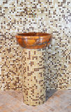 Wash basin made ​​of stone Royalty Free Stock Photos