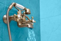 Wash basin made of chrome Stock Photo