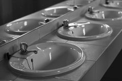 Wash Basins Royalty Free Stock Images