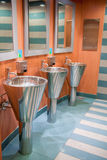 Wash basins in the bath room. Wash basins in the bathroom from the boat Royalty Free Stock Photography