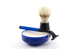 Wash & Brush up. A three piece shaving set Stock Image