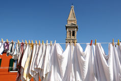 Wash in Burano island, Venice Royalty Free Stock Photography
