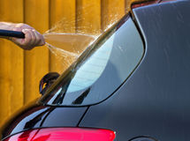 Wash the car. Royalty Free Stock Photos