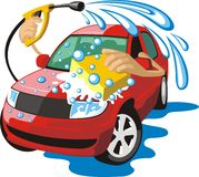 Wash car Royalty Free Stock Image