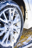 Wash car wheels shine Stock Photography