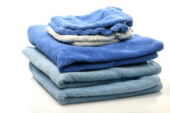 Wash cloths. On top of some towels Stock Photography