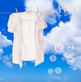 Wash Day Bubbles Stock Image