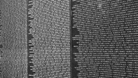 Detail of Vietnam Veterans Memorial in Washington D.C. Royalty Free Stock Image