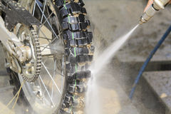 Wash Dirt Bike Royalty Free Stock Photography
