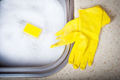 Wash dishes Stock Photos
