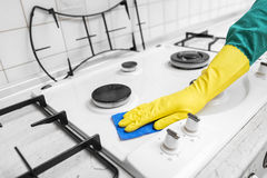 Wash gas stove. Royalty Free Stock Images
