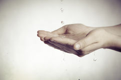 Wash hand. Washing hand with clean water Stock Photography