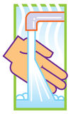 Wash hands Stock Images