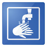 Wash hands sign Royalty Free Stock Photography