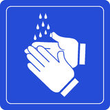 Wash hands sign. Vector illustartion stock illustration