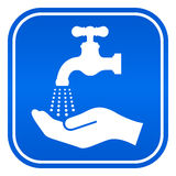 Wash hands sign. Vector illustration Stock Photo