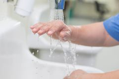 Wash hands Surgery. Wash your hands to wash off dirt. In surgery stock images