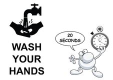 Free Wash Hands Twenty Seconds Royalty Free Stock Images - 176339779