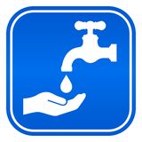 Wash hands vector sign. Wash your hands vector sign stock illustration