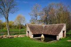 Wash house at Bourg le Roi in France Stock Photo