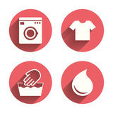 Wash icon. Not machine washable symbol Stock Images