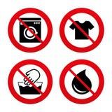 Wash icon. Not machine washable symbol Stock Images
