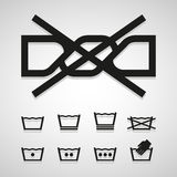 Wash icons great for any use. Vector EPS10. Stock Photography