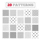 Wash icons. Machine washable at forty degrees. Ornament patterns, diagonal stripes and stars. Wash icons. Machine washable at 20, 30, 40 and 50 degrees symbols Stock Image