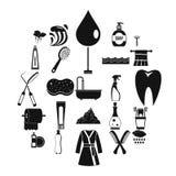 Wash icons set, simple style. Wash icons set. Simple set of 25 wash vector icons for web isolated on white background Stock Photo