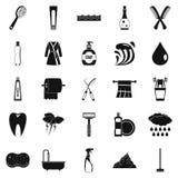 Wash icons set, simple style Stock Image
