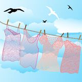 Wash on the line Royalty Free Stock Photos