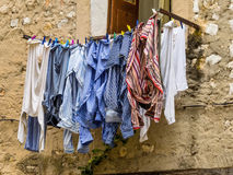 Wash line Stock Images