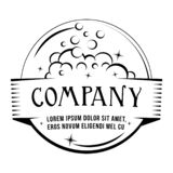 Wash logo design template. Vector and illustration. stock illustration