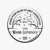 Wash logo. Vector and illustration. T-shirt design. Soap bubles design. vector illustration