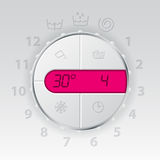 Wash machine control panel with pink lcd Stock Images
