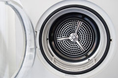 Wash machine door. Door of white wash machine Stock Photo
