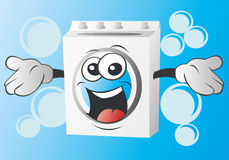Wash machine. An very happy wash machine illustration Stock Image