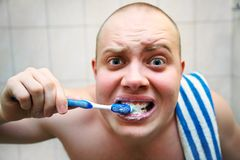 Wash oneself Royalty Free Stock Photo
