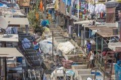 Wash pens in the Mahalaxmi Dhobi Ghat open air laundromat Stock Images