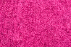 Wash rag texture background. Used pink washrag  flat showing texture detail Stock Photos